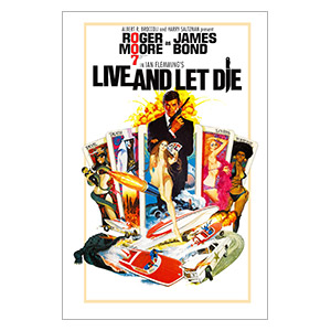James Bond: Live and Left Die. Размер: 20 х 30 см